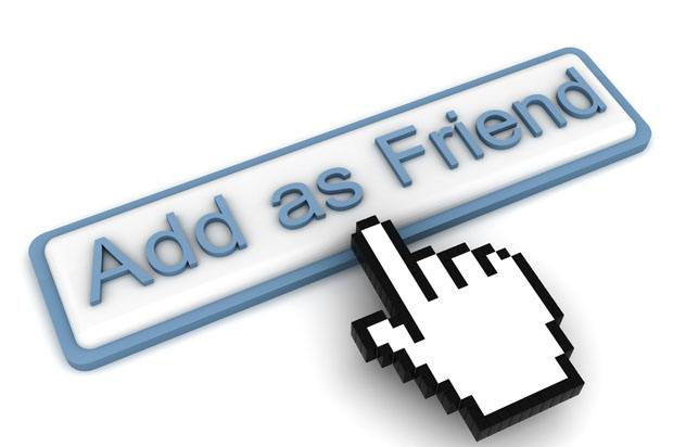 mouse clicking 'add as friend' facebook button