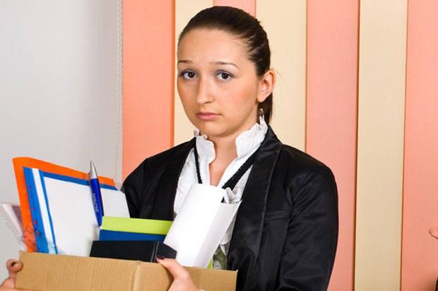 Girl being made redundant
