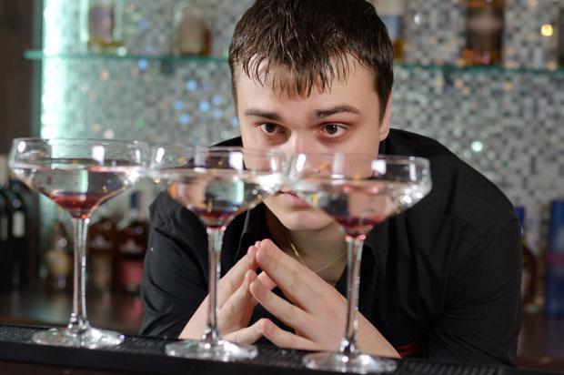 boy praying at drinks