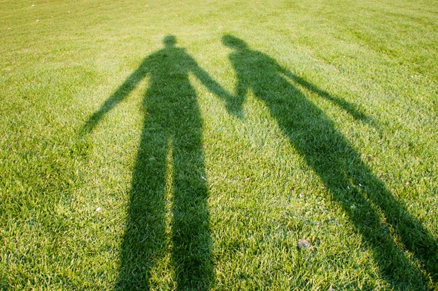 Shadow of two people holding hands. c5d7eb8775