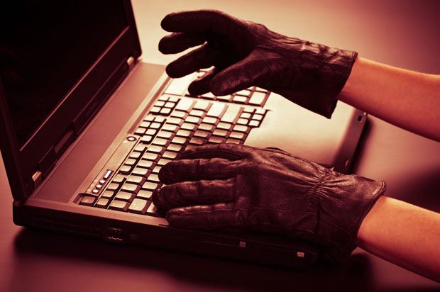 gloves on computer