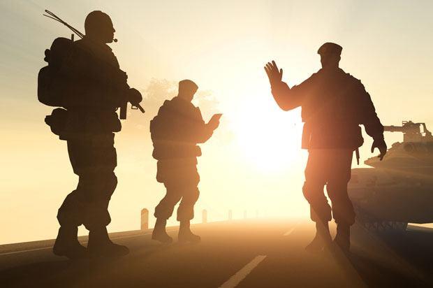 army saying goodbye