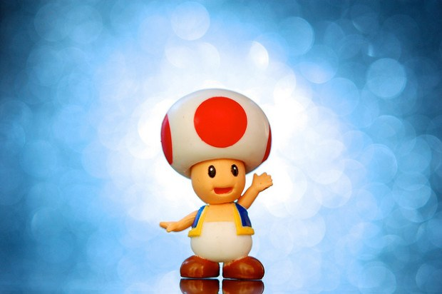 Toad from mario cart