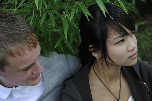 boy and girl looking upset