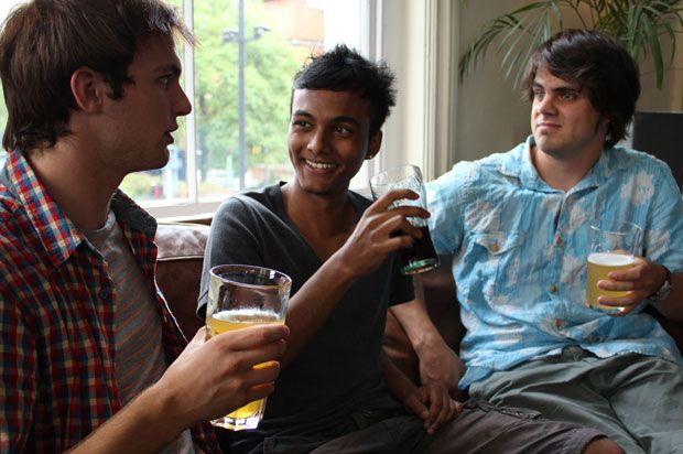 boys drinking
