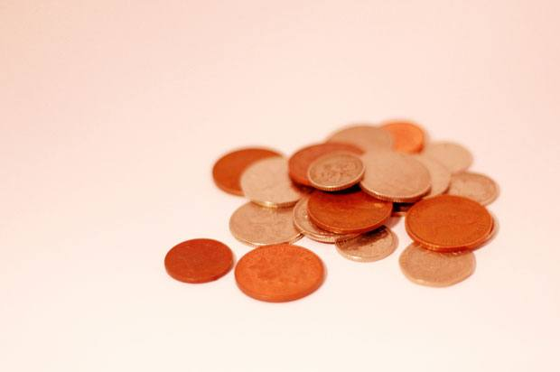 small pile of coins