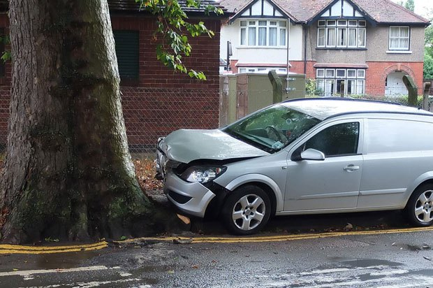 Car crashed into a tree