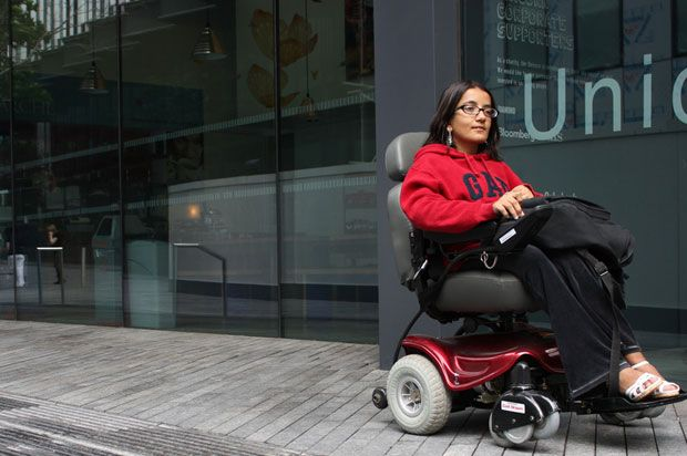 student girl in wheelchair