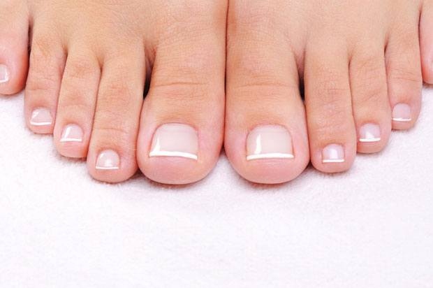 Nicely manicured toes