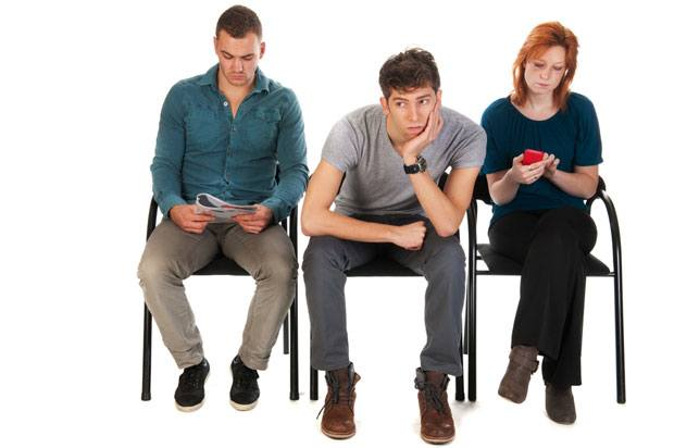 young people in waiting room