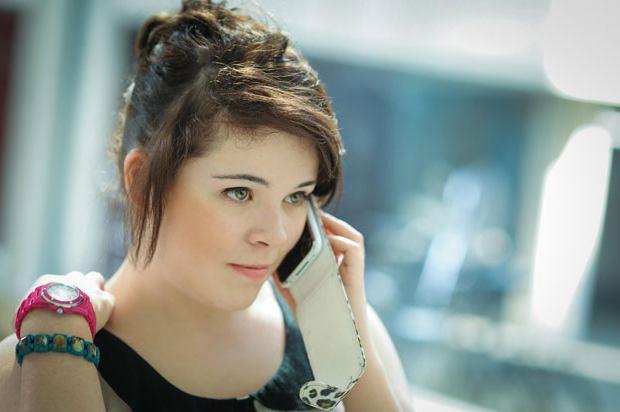 Girl calling an employer