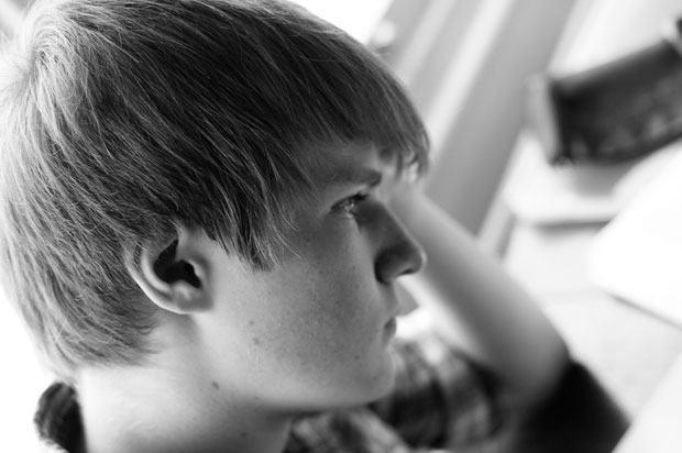 student who looks depressed