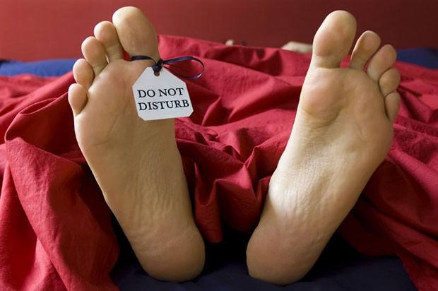 do not disturb sign on feet