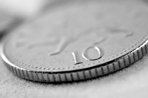 picture of a 10 pence coin