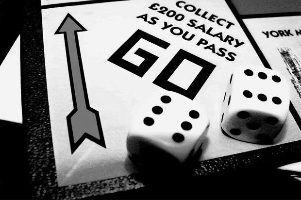 Monopoly board, 'Go' square