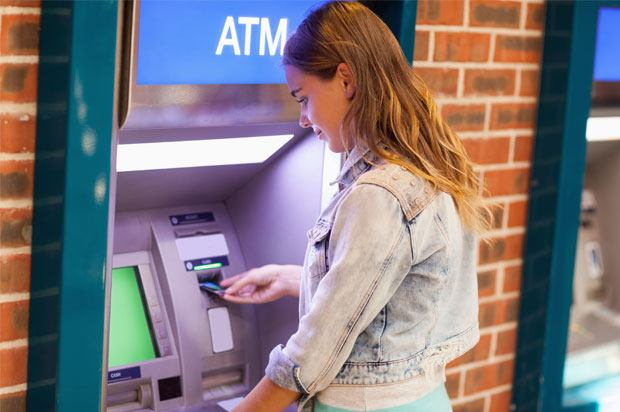 Girl trying to withdraw money