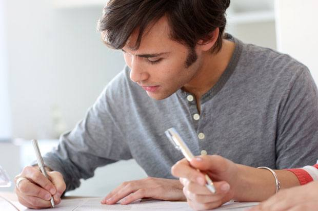 nervous boy exam
