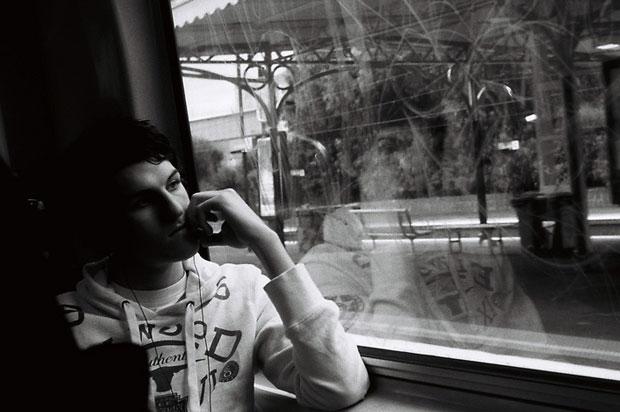 guy on train