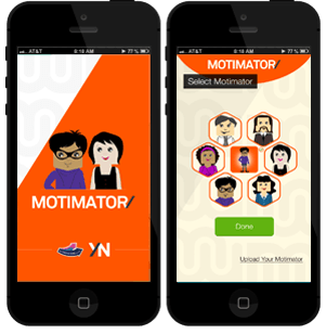Motimator app screens