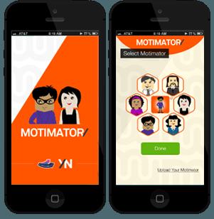 Motimator app screens