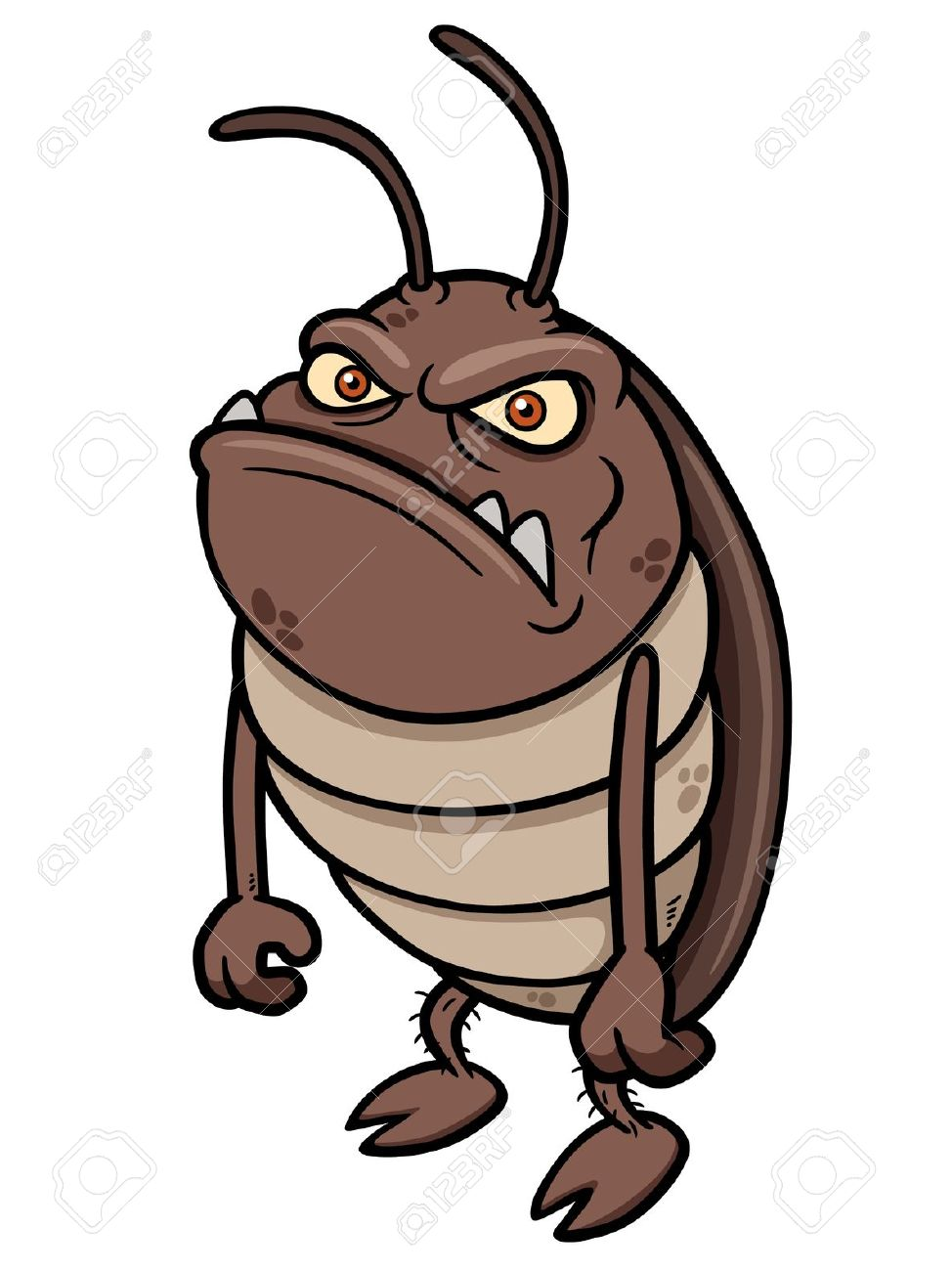 cartoon grumpy bug