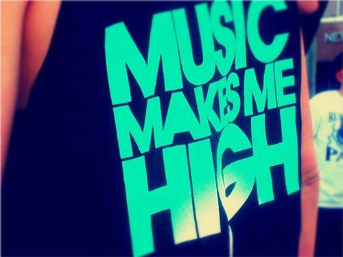 music makes me high t shirt