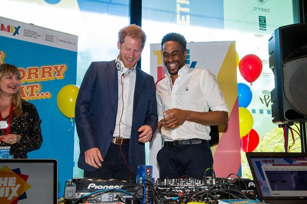 Prince Harry and DJ AJ King