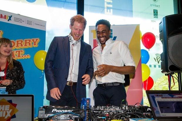 Prince Harry and DJ AJ King