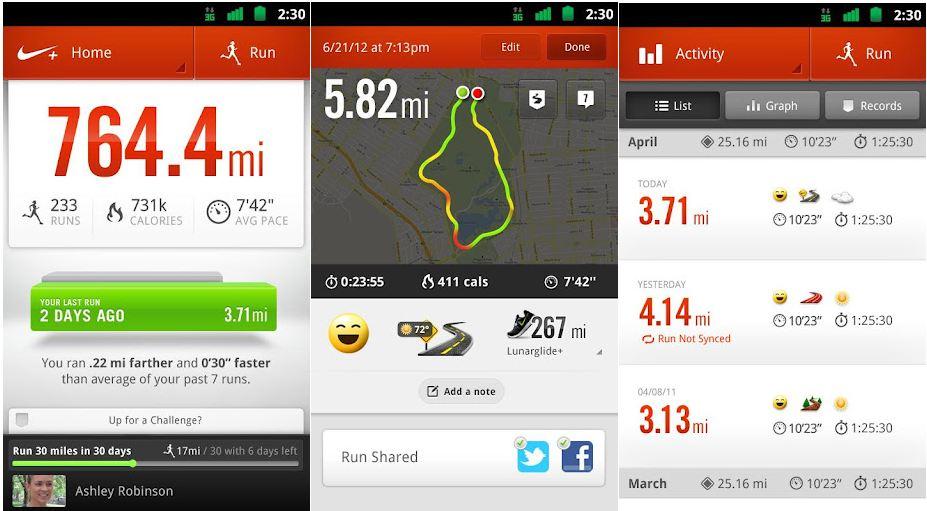 Nikes Running app