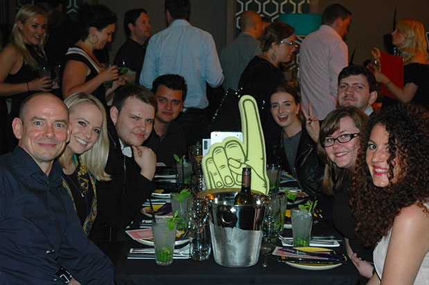 Revellers at the Quizzical event