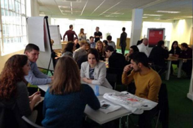 workshop with young people and employers