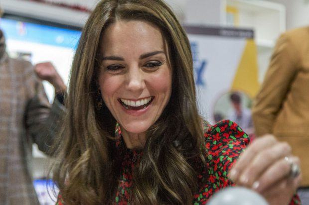 HRH The Duchess of Cambridge joins The Mix volunteers to decorate Baubles, with Christmas messages