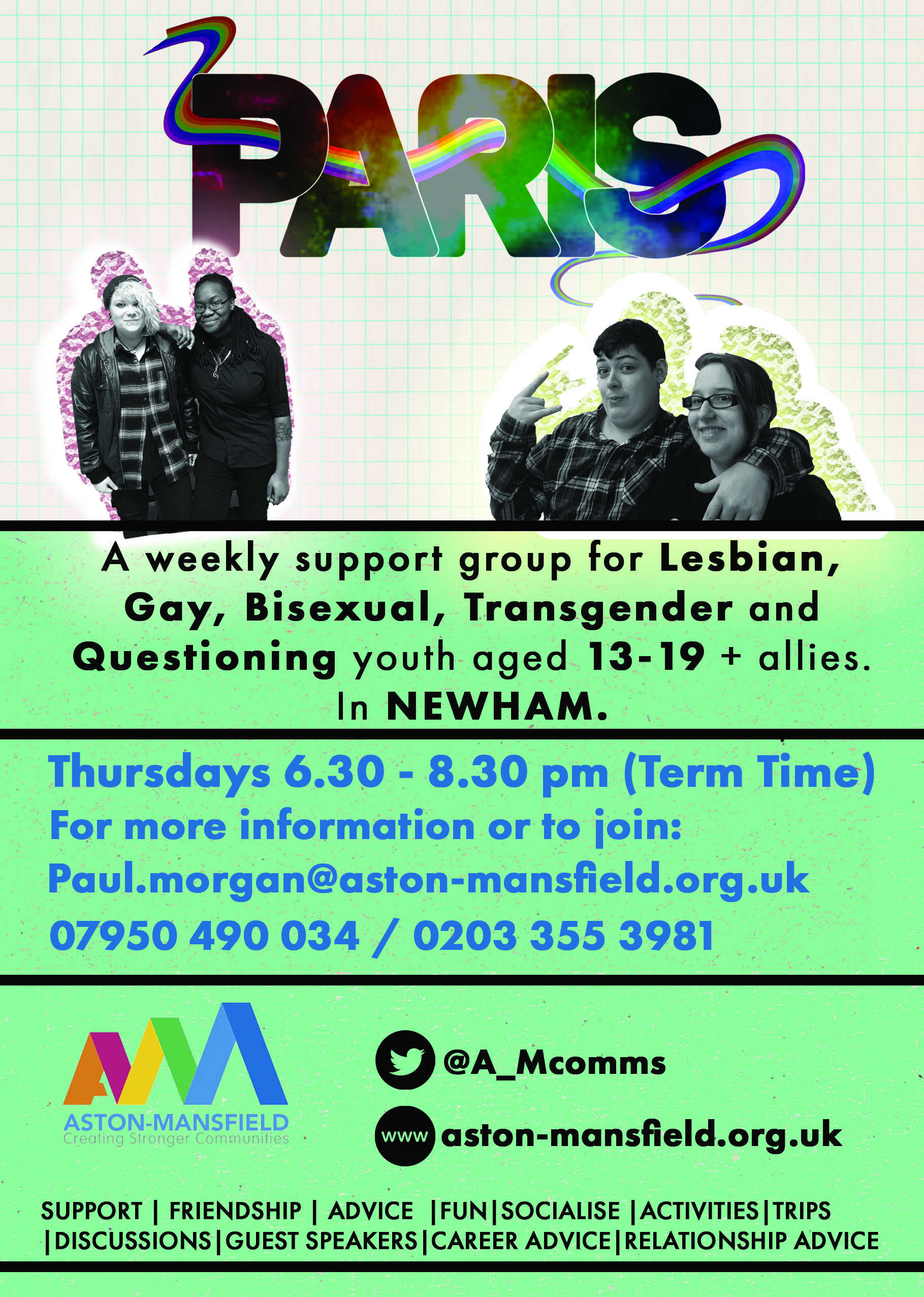 'PARIS' – LGBTQ+ youth group aged 13 -19