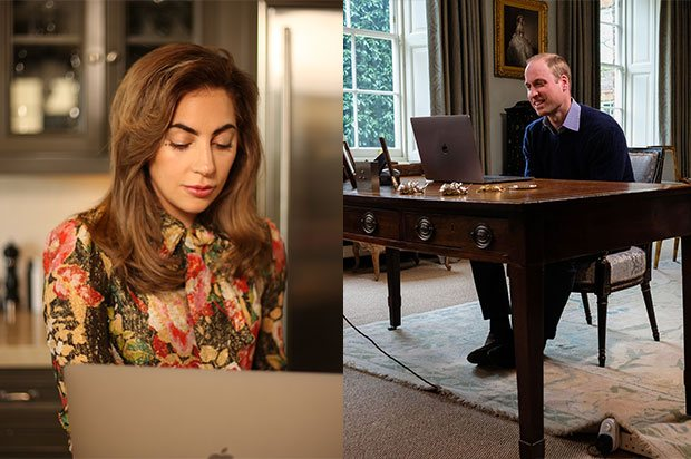 lady gaga talks to the duke of cambridge