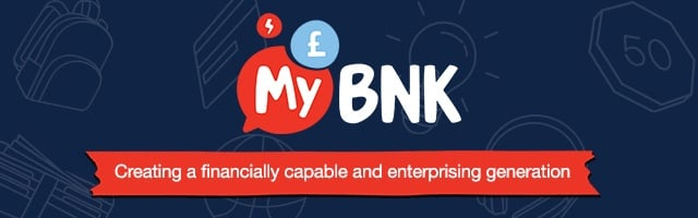 MyBnk logo over a navy background.