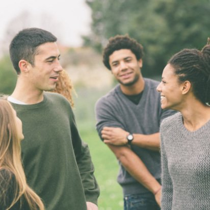 A group of young people in the park